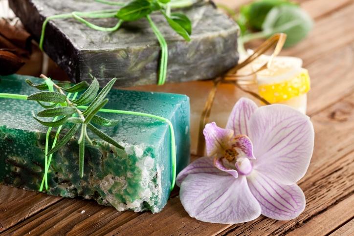 Parsley soap