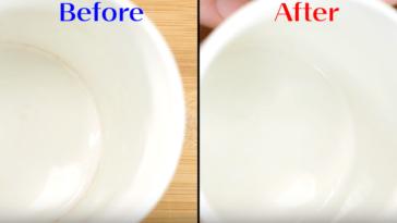 tea stained mug